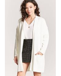 Forever 21 - Open-front Duster Cardigan - Lyst
