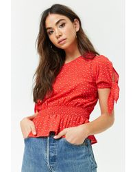 Forever 21 - Double Dot Crepe Top - Lyst