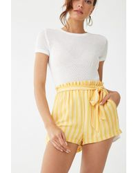 Forever 21 - Striped Paperbag Shorts - Lyst