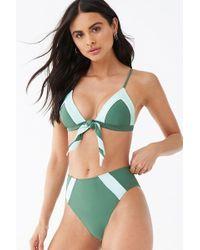 79774e14f6b3b Forever 21 High-waist Suspender Bikini Bottoms in Yellow - Save 26% - Lyst