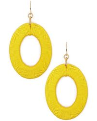 Forever 21 - Thread-wrapped Oval Drop Earrings - Lyst
