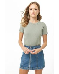 Forever 21 - Faded Knit Tee - Lyst