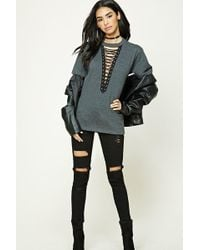 FOREVER21 - Plunging Strappy Tee - Lyst