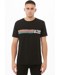 """Forever 21 - T-Shirt """"Later"""" - Lyst"""