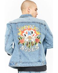 Forever 21 - Guns N' Roses Graphic Denim Jacket - Lyst