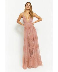 Forever 21 - Flocked Velvet Prom Gown - Lyst
