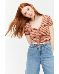 Forever 21 - Striped Ruched Top - Lyst