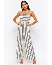 Forever 21 - Tuta lunga a righe - Lyst