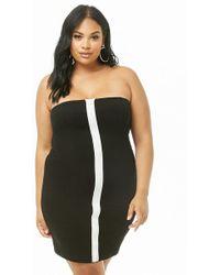 df79cb330b3 Forever 21 Women s Plus Size Peplum Mini Dress in Black - Lyst