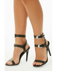 Forever 21 - Faux Leather Studded Heels - Lyst