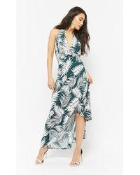 Forever 21 - Palm Leaf Halter Dress - Lyst