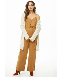 Forever 21 - Button-front Cami Jumpsuit - Lyst