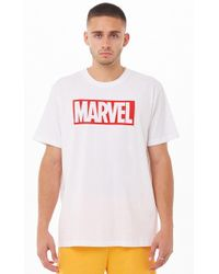 2ed9555b5b Vans X Marvel Long Sleeve T-shirt With Characters Print In White ...