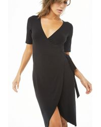 Forever 21 - Wrap Bodycon Dress - Lyst