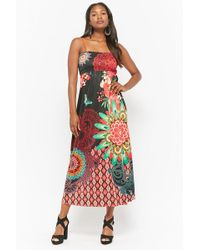 Forever 21 - Floral Satin Maxi Dress - Lyst
