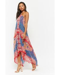 2f4a11c7643 Lyst - Forever 21 Abstract Print Cami Maxi Dress in Black