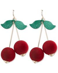 Forever 21 - Cherry Drop Earrings - Lyst
