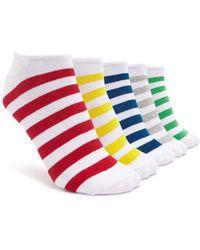 Forever 21 - Striped Ankle Socks - 5 Pack - Lyst