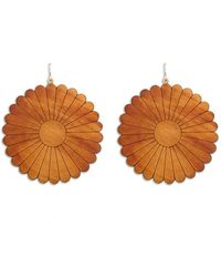 Forever 21 - Floral Wooden Drop Earrings - Lyst