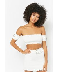 Forever 21 - Women's Ribbed Crop Top & Skirt Set - Lyst