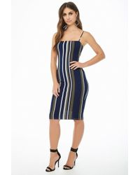 Forever 21 - Women's Striped Cami Bodycon Dress - Lyst