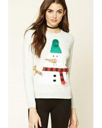 Forever 21 - Holiday Snowman Sweatshirt - Lyst