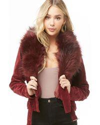 Forever 21 - Faux Fur-trim Corduroy Jacket - Lyst