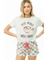 Forever 21 - You Make Miso Happy Graphic Pj Set - Lyst