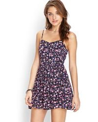 Forever 21 - Floral Cami Dress - Lyst