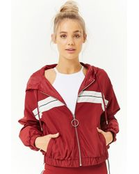 Forever 21 - Active Striped-panel Windbreaker - Lyst