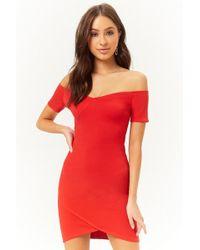 0e527ca80d7b Forever 21 - Off-the-shoulder Mini Dress - Lyst