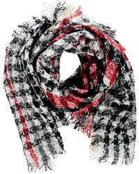 Forever 21 - Tartan Pile Knit Oblong Scarf - Lyst