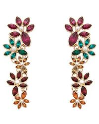 Forever 21 - Women's Tiered Floral Drop Earrings - Lyst