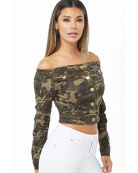 Forever 21 - Camo Print Cropped Jacket - Lyst