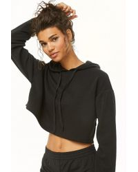 Forever 21 - Active Fleece Hooded Top - Lyst