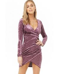 91141c24342 Forever 21 Plus Size Crushed Velvet Dress in Red - Lyst