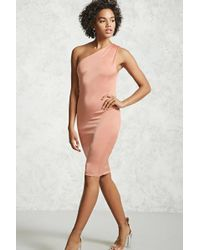 Forever 21 | One-shoulder Bodycon Dress | Lyst