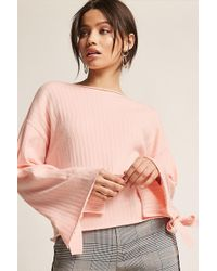 Forever 21 - Ribbed Wide-sleeve Top - Lyst