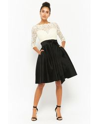Forever 21 - Lace Illusion Contrast Dress - Lyst