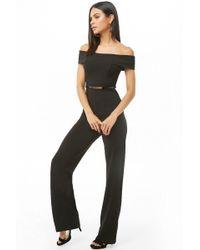 Forever 21 - Off-the-shoulder Wide-leg Jumpsuit - Lyst