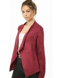 Forever 21 - Draped Faux Suede Jacket - Lyst