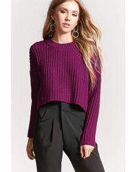 Forever 21 - Ribbed Knit Cropped Jumper - Lyst