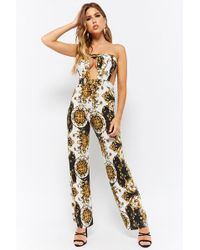 Forever 21 - Women's Baroque Tube Cutout Jumpsuit - Lyst