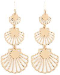 Forever 21 - Seashell Cutout Drop Earrings - Lyst