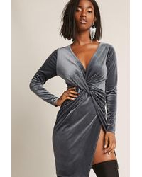 Forever 21 - Velvet Tulip Dress - Lyst