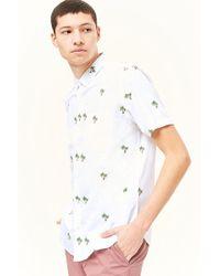 Forever 21 - Palm Tree Print Pocket Shirt - Lyst