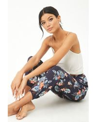Forever 21 - Tropical Floral Satin Pajama Bottoms - Lyst