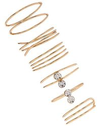 Forever 21 - Stackable Rhinestone Ring Set - Lyst