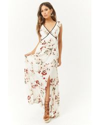 6e05e5d52aed Lyst - Forever 21 Ruffled Sweetheart Maxi Dress in Blue