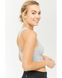 Forever 21 - Active Ribbed Racerback Tank Top - Lyst